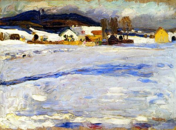 Wassily Kandinsky -  Bei Starnberg - Winter, 1902