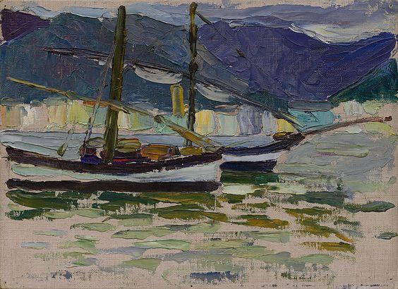 Wassily Kandinsky -  Fishing Boats, Sestri