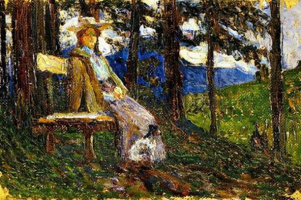 Wassily Kandinsky -  дама с собачкой