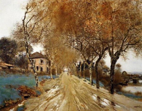Jean-Francois Raffaelli - A Lane of Plane Trees