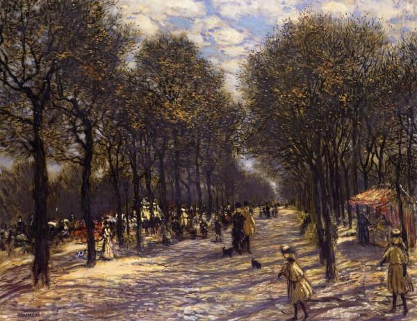 Jean-Francois Raffaelli  - Lane of Trees on the Champs-Elysees, c. 1893