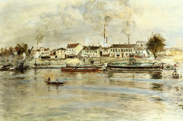 Jean-Francois Raffaelli  - The Saine at Suresnes, Issy-les-Mouleneaux, c. 1890
