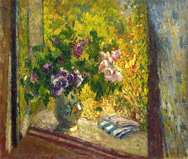 Henri Martin Vase of Flowers in a Window