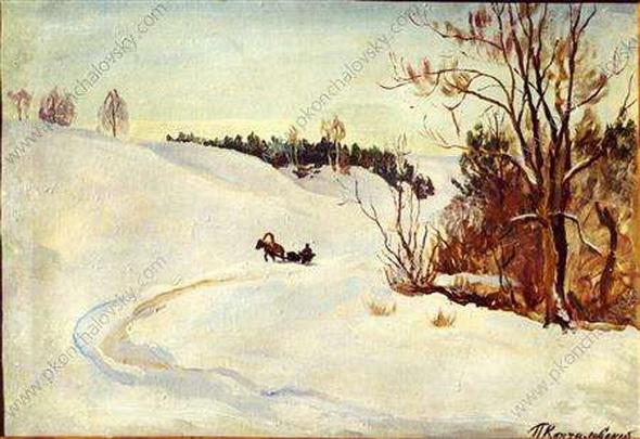 Pyotr Konchalovsky - Зимняя дорога. Вечер
