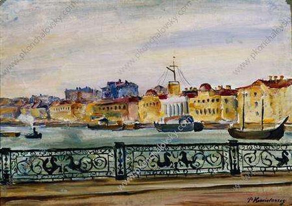 Pyotr Konchalovsky - Ленинград. Николаевский мост.
