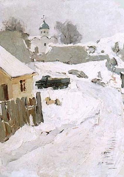 Семенов  - Little couryard in Old Ladoga