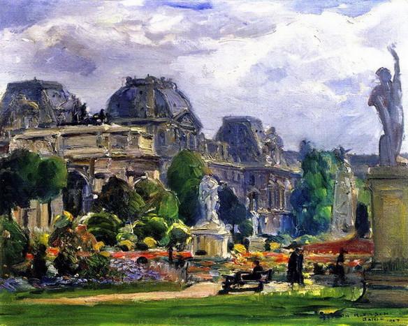 Joseph Kleitsch - Carousel Garden, Paris