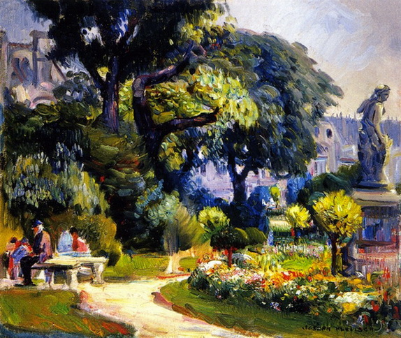 Joseph Kleitsch - Tuileries Paris