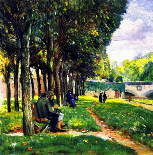 Joseph Kleitsch - The Park In Vernon, France