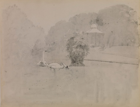 Lionel Bulmer - Swans by the Bandstand