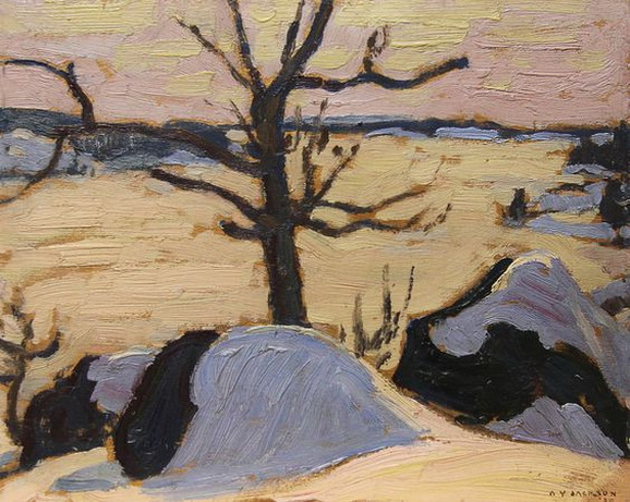 """Alexander Young Jackson - Frozen Lake"""" at Mayberry"""