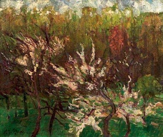 Тархов Н.А. Цветущие деревья.