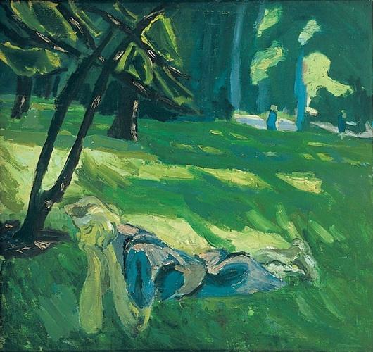 Erik Hoppe - A Girl on a Lawn