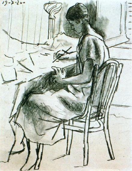 Pablo Picasso - Olga ecrivant