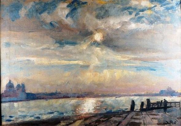 Wojciech Weiss - Venice - sky