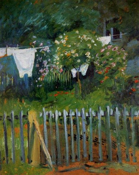 August Macke  - Wasche im Garten in Kandern