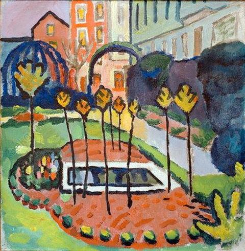 August Macke - Garden With Pool