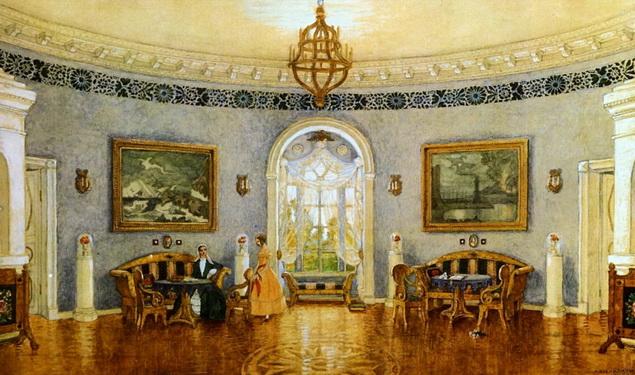 Добужинский - Голубая гостиная
