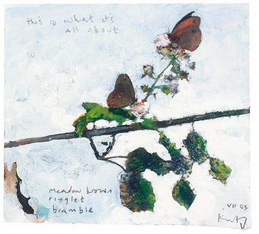 Kurt Jackson -  Meadow Brown, Ringlet, Bramble
