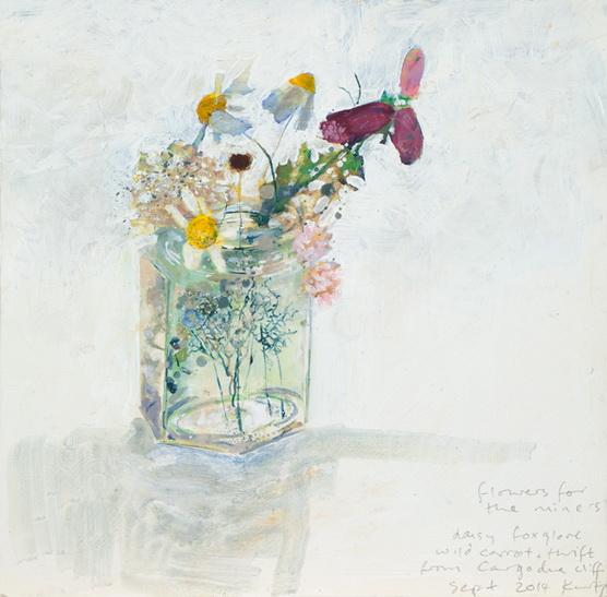 Kurt Jackson -   Flowers for the miners