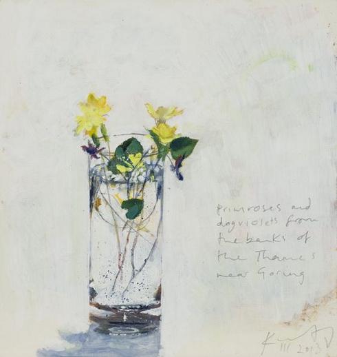 Kurt Jackson -  Primroses and dog violets