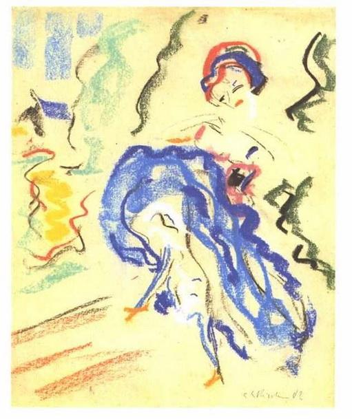 Ernst Ludwig Kirchner - Dancer in a Blue Skirt