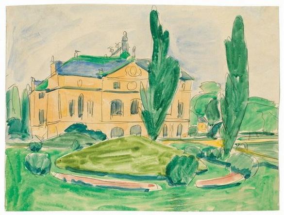 Ernst Ludwig Kirchner - Palais im Groben Garten