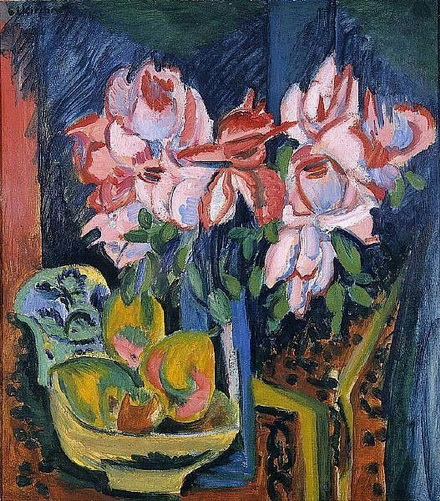 Ernst Ludwig Kirchner - Pink Roses