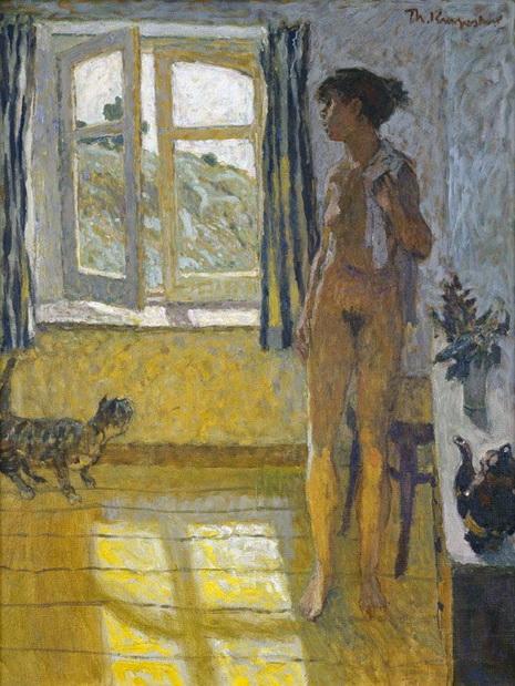 Theo Kurpershoek - Nude With Cat, Summer