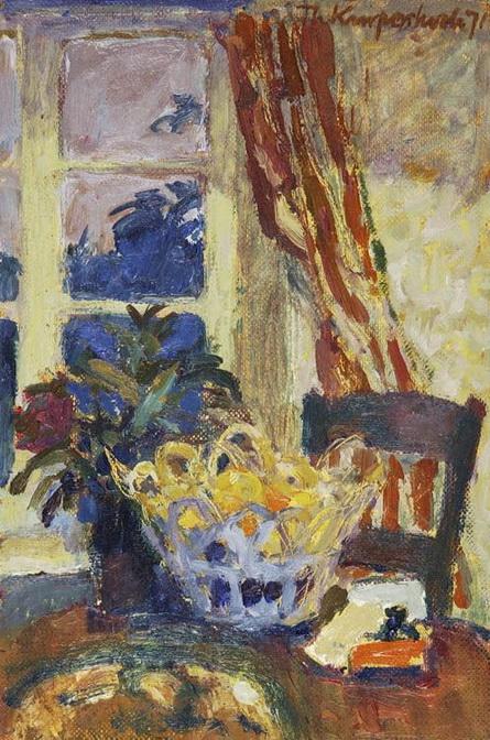 Theo Kurpershoek - Still Life with Lamp Light