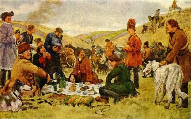 Лансере - Петр Первый на охоте