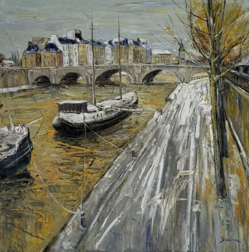 Jean Paul Surin - Pont Neuf en Hiver