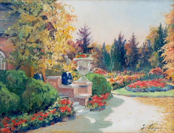 Лапшин   - Ранняя осень в саду