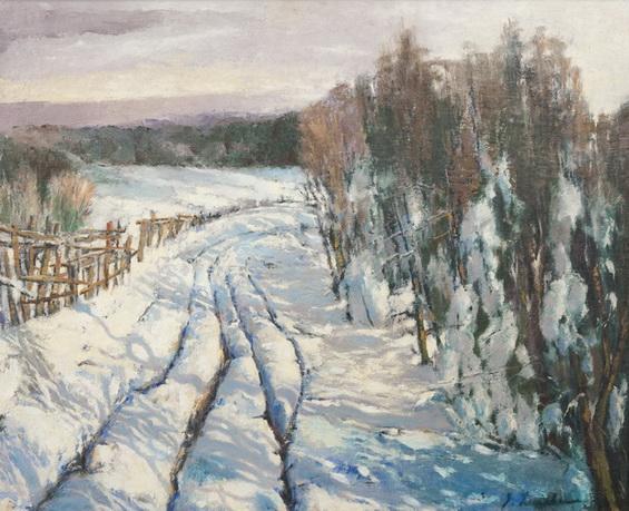 Лапшин Зимний пейзаж