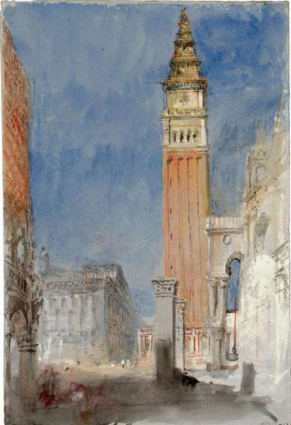 Joseph Mallord William -  Venice, the Campanile of San Marco