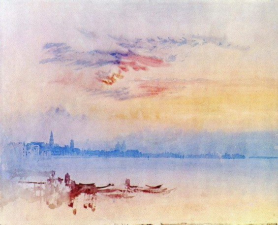 Joseph Mallord William - Venice Looking across the Lagoon at Sunset 2