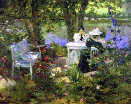 Sir John Lavery  A Garden in France, 1898