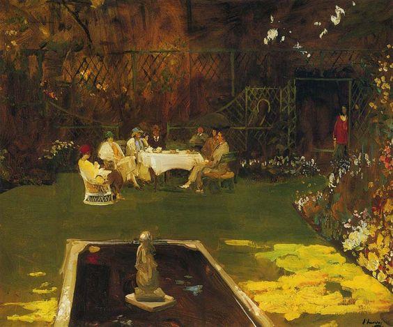 Sir John Lavery The Garden at Ardilea