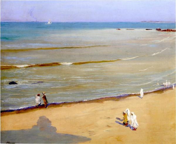 Sir John Lavery Утро после бури на пляже в Танжер
