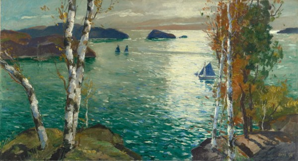 Jonas Lie  Seacapes and boats
