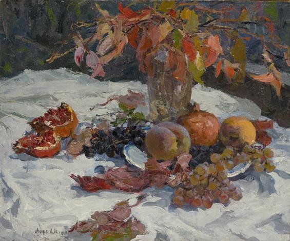 Jonas Lie  Осенний натюрморт , 1919