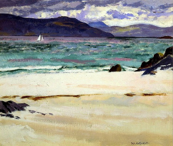 Francis Cadell    Ben Bhuie From The North End