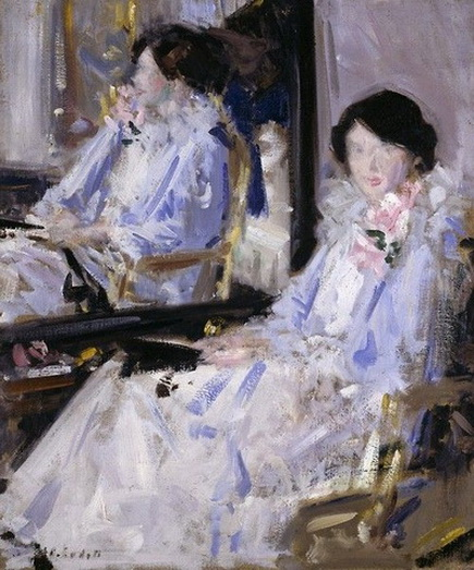 Francis Cadell   Girl in Blue