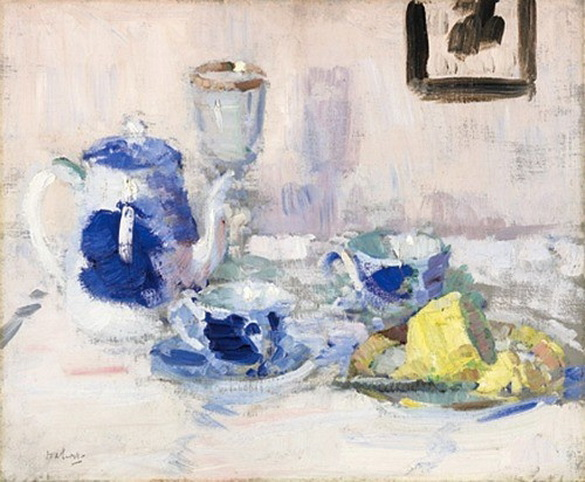 Francis Cadell   Still Life Blue and White
