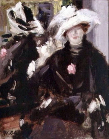 Francis Cadell   The Feathered Hat