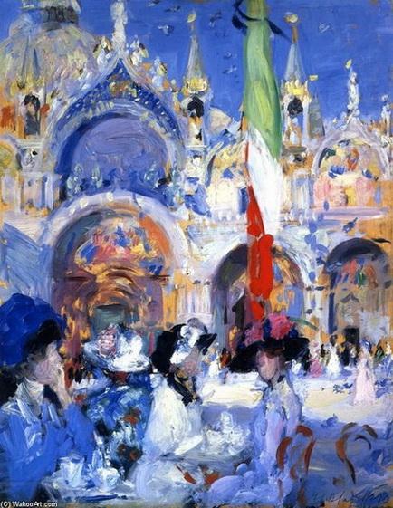 Francis Cadell   кафе Флориана венеция