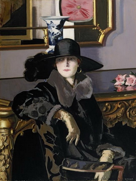 Francis Cadell  A Lady in Black