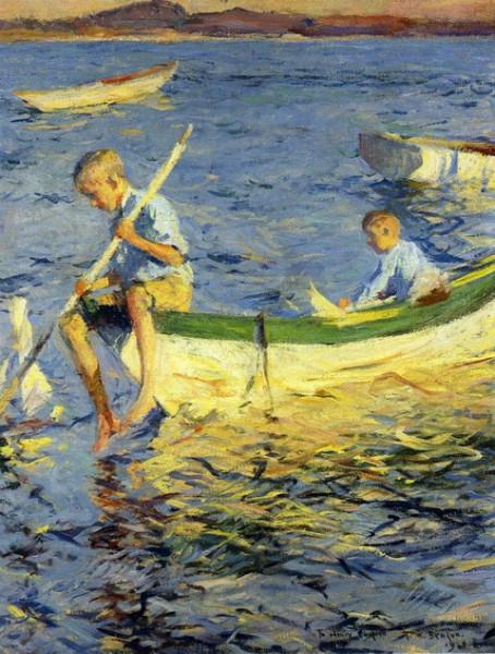 Frank Weston Benson - Boating at Vinalhaven