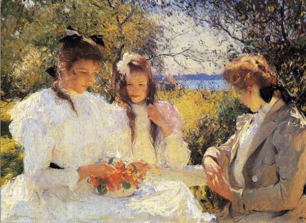 Frank Weston Benson - Portrait of My Daughters-