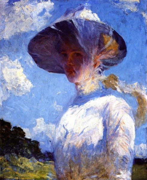 Frank Weston Benson - Study for Young Girl with a Vei